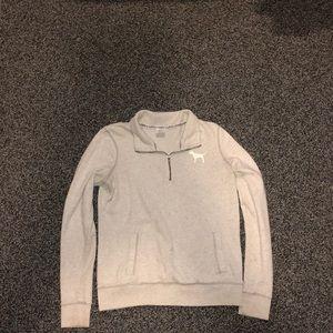 Victoria secret/pink quarter way zip up hoodie